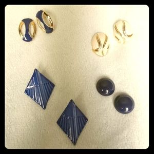 VINTAGE Nautical Earrings Set B
